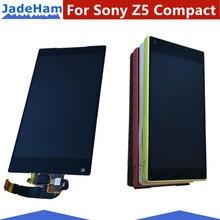 Оригинальный 4,6 «ЖК-дисплей для Sony Xperia z5 Compact Z5mini E5803 E5823 ЖК-дисплей Дисплей планшета Сенсорный экран черный, белый цвет z5 compact Экран