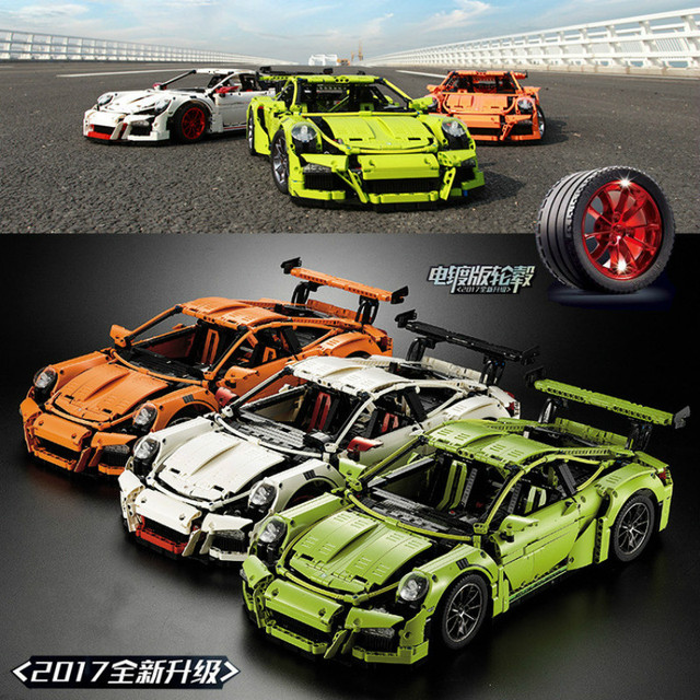 3368 2726PCS Technical Series race with car set Compatible with 20001 42056 Model Building Kit Mini blocks toy