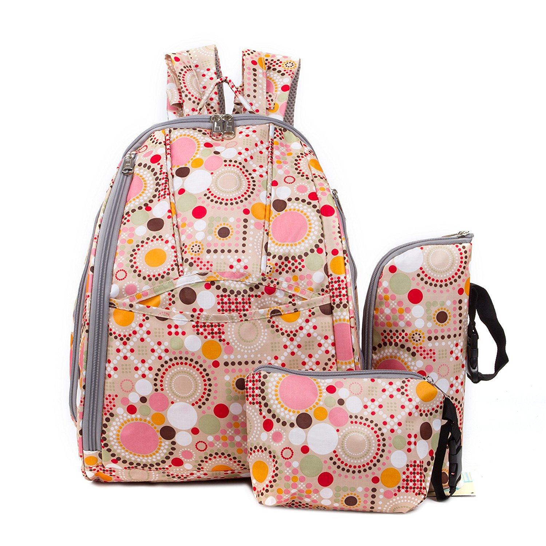 3pcs/set Dot Baby Nappy Bags Large Capacity Loading 10-20L Canvas Diaper Bag Mother Maternity Handbag Hobos Backpack Baby