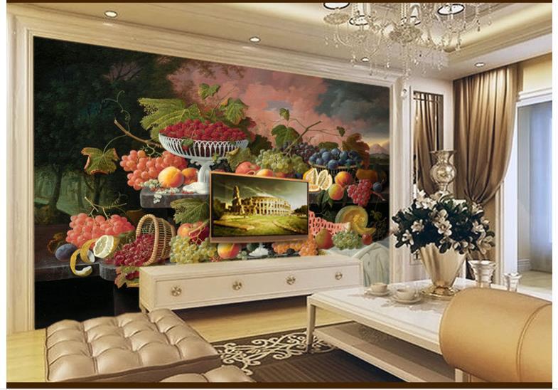 Online get cheap sunset wall mural for Cheap living room wallpaper