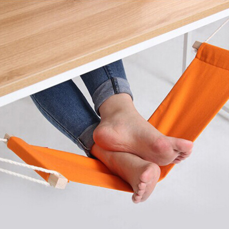 60*16cm Office Foot Rest Stand Desk Feet Hammock Easy to Disassemble Study Indoor Orange раскладушка therm a rest therm a rest luxurylite mesh xl