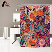Ecofriendly Featured Tropical Leaves Design Printed Polyester Shower Room Bath Curtains For Home beige polyester flannel europe embroidered blackout curtains for living room bedroom window tulle curtains home hotel villa