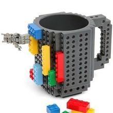 Drink Bausteine Tassen DIY Block Puzzle Becher 1 Stück Build-Auf Ziegel kreative Becher Lego Art Kaffeetasse