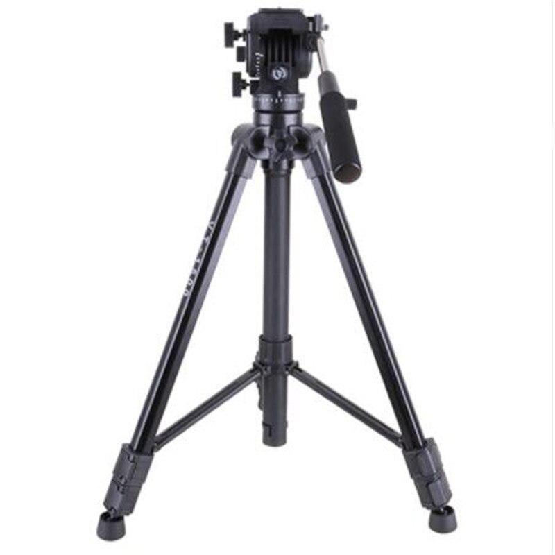 VT-1500 Professional Aluminum Video Camera Studio Photo Tripod with Fluid Head for film video shooting Max Loading 22lb