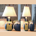 110V-220V Children Room Romantic Table Lamp E14 Led Switch Button Bedside Lamp Cartoon Wood Desk Lamp Reading Lamp Led
