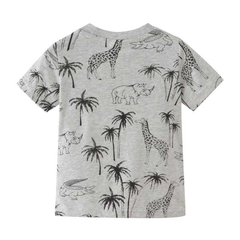 SAILEROAD 2-7Years Animal Giraffe Print Children Boys Tops Tees T-Shirts for Summer Baby Infant Boys Girls Shorts Clothes 2