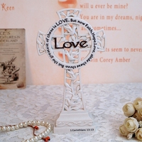 The Christian Gospel Church Ornaments Gift Jesus Resin Cross Holy Home Furnishing Decoration Accessories