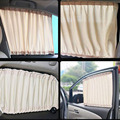 2 PCS 70L 70 x47cm Hot Sale Universal Car Sunshade Adjustable Window Curtain UV Protection Beige/gray/black