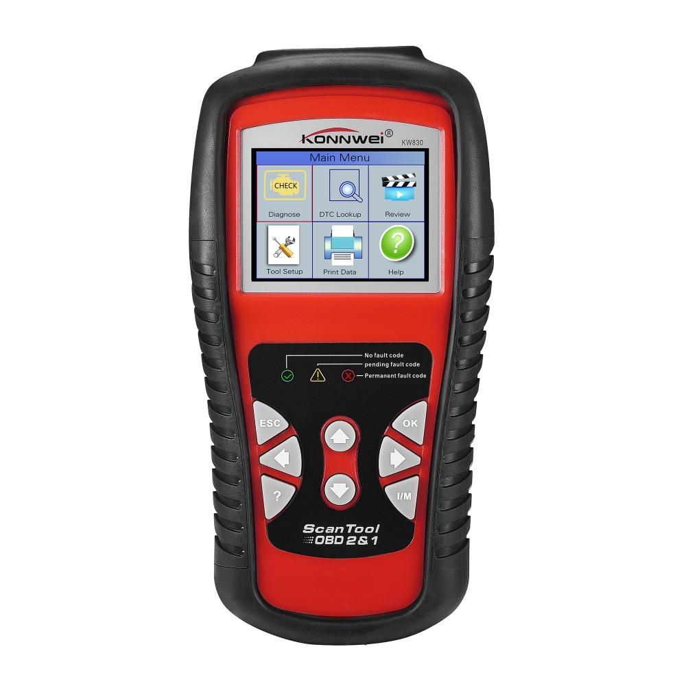 ФОТО KONNWEI KW830 OBD2/ EOBD Car Diagnostics Auto Scanner Automotive Fault Code Reader Diagnostic tool Car detector Automotive Tool
