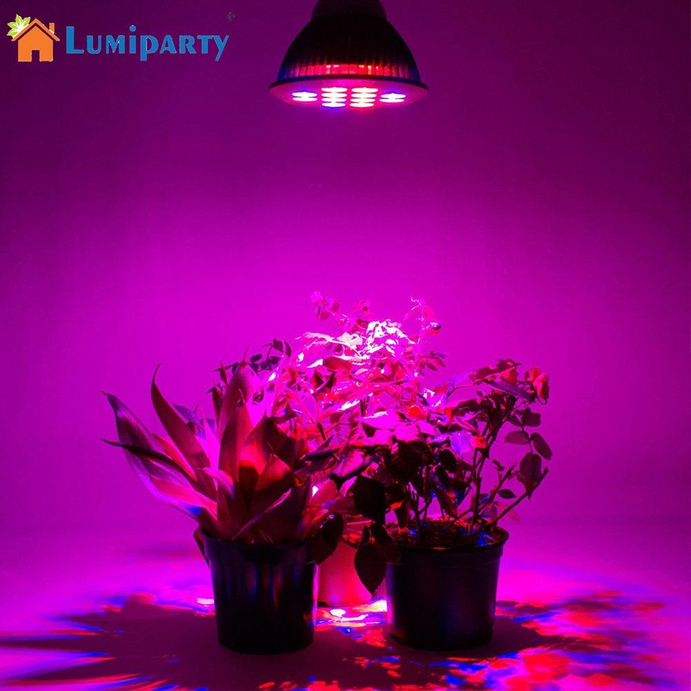 LumiParty 24W E27 12LED Plant Grow Light for Indoor Hydroponic Plant Vegetable Cultivation Horticulture Industrial Seedling
