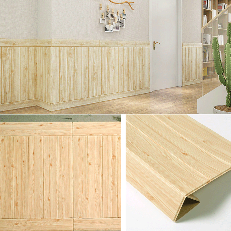 Self adhesive Wood 3D Wallpaper TV Background Waterproof Wall Sticker Living Room Wall paper Mural Bedroom Decor Stickers