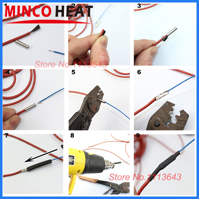 MINCO HEAT 100m 12K 33Ohm Carbon Fiber Heating Cable Electric Wire for Poultry Farming Underfloor Heating System