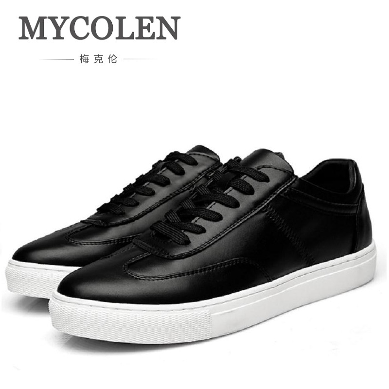MYCOLEN Microfiber Breathable Cowhide Spring Genuine Leather High Quality Fashion Shoes Men Male Casual Men Sports Shoes micro micro 2017 men casual shoes comfortable spring fashion breathable white shoes swallow pattern microfiber shoe yj a081
