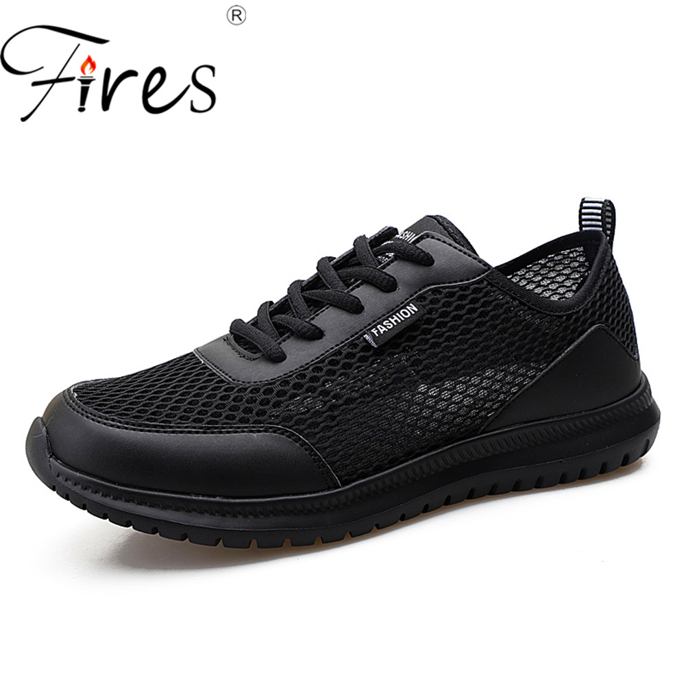 купить Fires 45 46 47 48 Plus Size Men Sneakers Summer sport athletic Running Shoe breathable Mesh Walking Shoes Outdoor Zapatillas