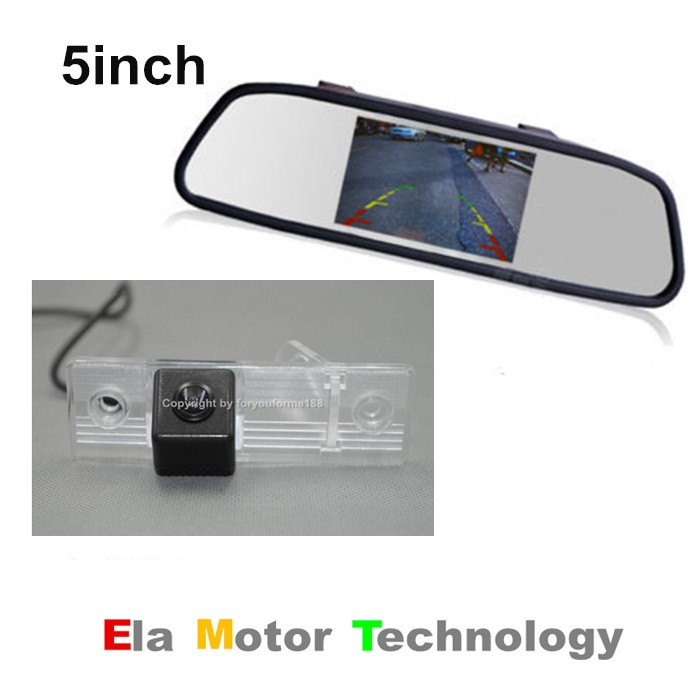 5inch Screen TFT LCD Car Color Rearview Mirror Monitor + Car Back Up Reverse Parking Camera For Chevrolet Lumina 2005~2006