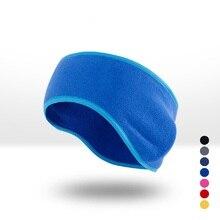 Модные зимние мужские женские флисовые повязки для ушей эластичные повязки для ушей