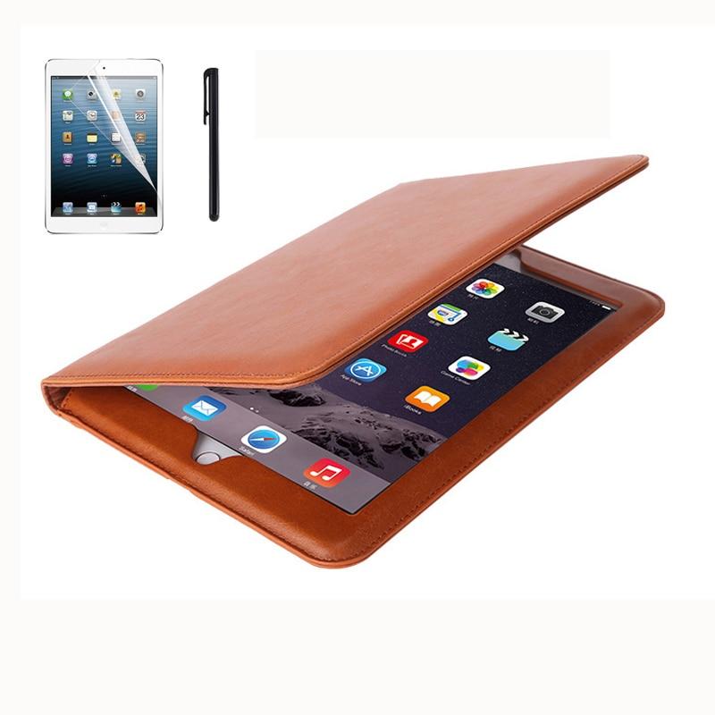 Cover Case for iPad mini 1 2 3 High Quality PU Leather Hand Holder Tablet Protect Case for funda iPad mini 1 2 3+Screen Film+Pen for ipad mini