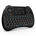 H9 + retroiluminación del teclado rii i8 2.4 ghz wireless qwerty teclado inglés con Panel Táctil para la Mini PC Smart TV Box PC Portátil retroiluminada