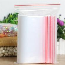 100pcs / पैक प्लास्टिक पारदर्शी आभूषण ज़िप ताला बैग छोटे Ziplock बैग Reclosable प्लास्टिक साफ़ बैग मोटाई 0.06 मिमी