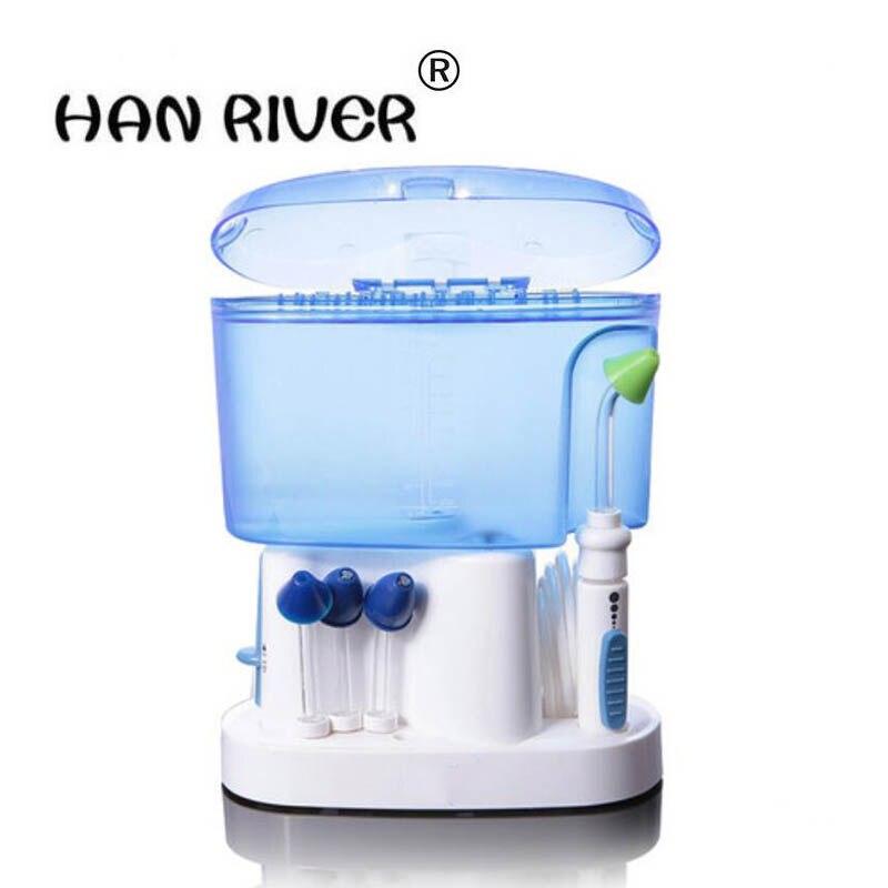 HANRIVER le nouveau type de seringue de rhinite d'irrigation nasale d'impulsion électrique le pot neti soins de santé