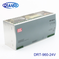 Din rail power supply 960W 24V power suply meanwell ac dc converter DRT 960 24 960W 40A 24V Industrial Original MEAN WELL