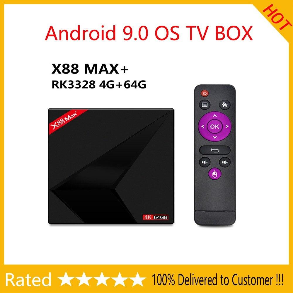 Android 9 0 TV BOX 4GB Ram 64GB X88 MAX Plus RK3328 Penta Core 2 4G