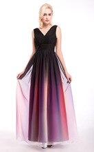 Frauen formale Abendkleid 2016 neue elegante A-Line Chiffon Maxi lange Kleider Hochzeit Prom Party Kleid