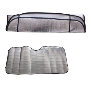 Foldable Car Windshield Visor Cover Window Sun Shade for Jeep Renegade Cherokee Wrangler Compass Patriot Santafe i20 i30(China)