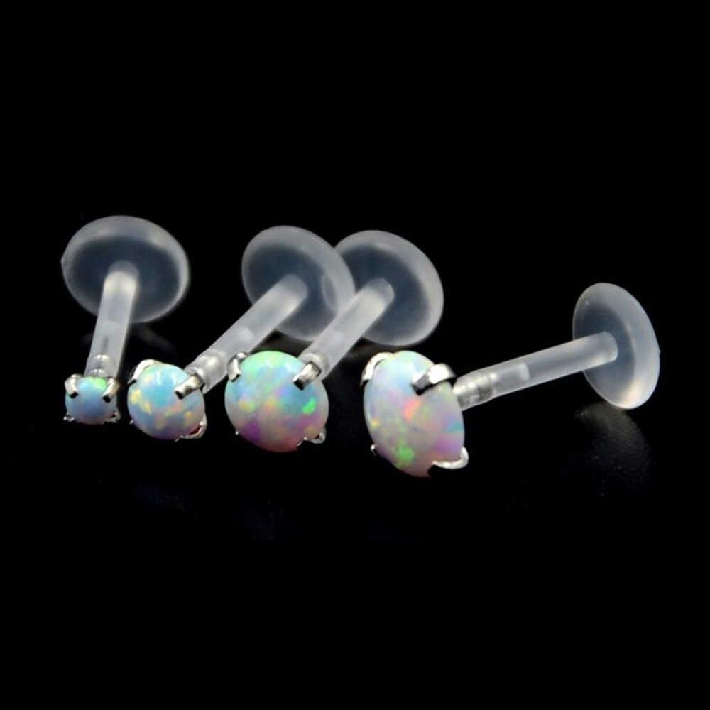 1 шт. модные круглые циркониевые CZ 316l сталь и PTFE Лабрет губы бар кольцо пирсинг для хрящевой части уха Tragus сексуальная девушка ювелирные изделия 16 г