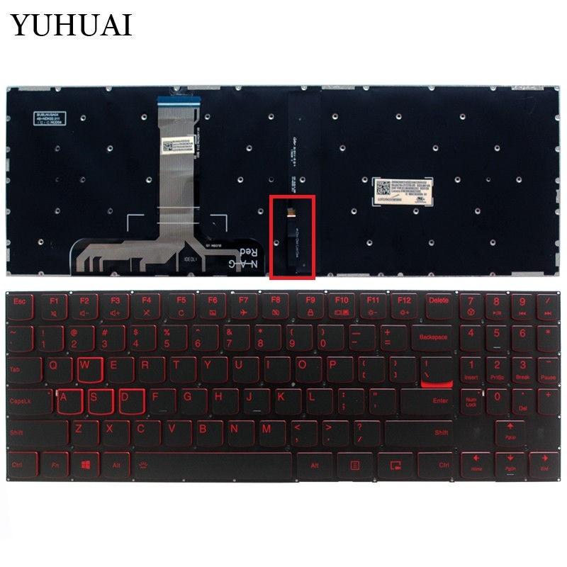 FOR Lenovo Legion Y520 15IKBA R720 Upper case Palmrest cover US Keyboard