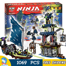 1069pcs Ninja Città di Stiix Fantasma Drago Base di Cole Blaster Bike 10401 Figure Building Blocks Giocattoli Compatibile con legoING(China)