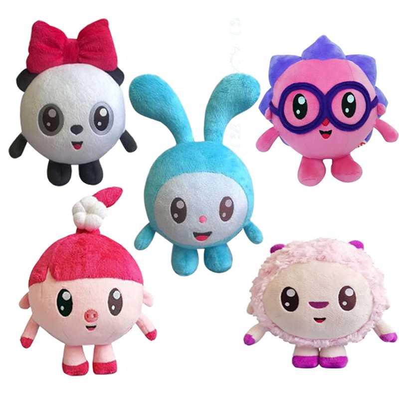 5 PCS 15-20cm Cartoon Malyshariki Smeshariki Stuffed toy Hedgehog Kikoriki Nyushenka pandochka Plush Toys children Kids Gifts 26 35cm smeshariki plush toy russian