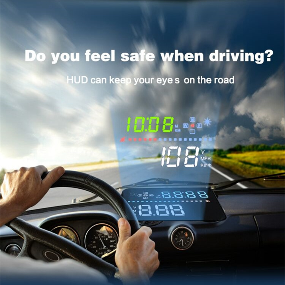 Compatible with All Car Speed Projector on the Windshield A3 OBD2 Head Up Display Auto HUD Digital Car Speedometer Accessories