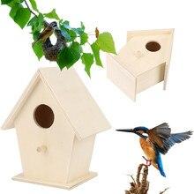 Деревянный птичий домик для детей птичьи клетки гнезда Dox Nest House птичий домик коробка для птиц с круглым отверстием декоративная 9,5x9 см 10