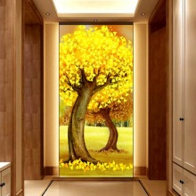 5D DIY diamond embroidery good luck tree Pictures mosaic full Square Rhinestone landscape patterns larger size porch painting