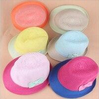 Hot selling zomer strik meisjes en jongens fedora hoed