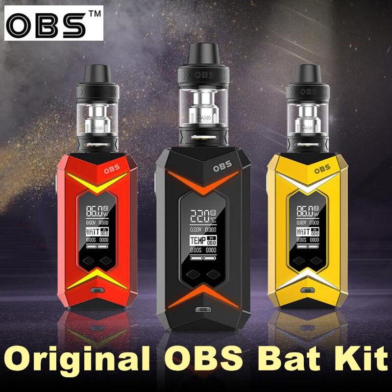OBS Bat Kit 218W with Damo TC Kit electronic e cigarettes 7-color LED light Mod 5ml Demo subohm tank