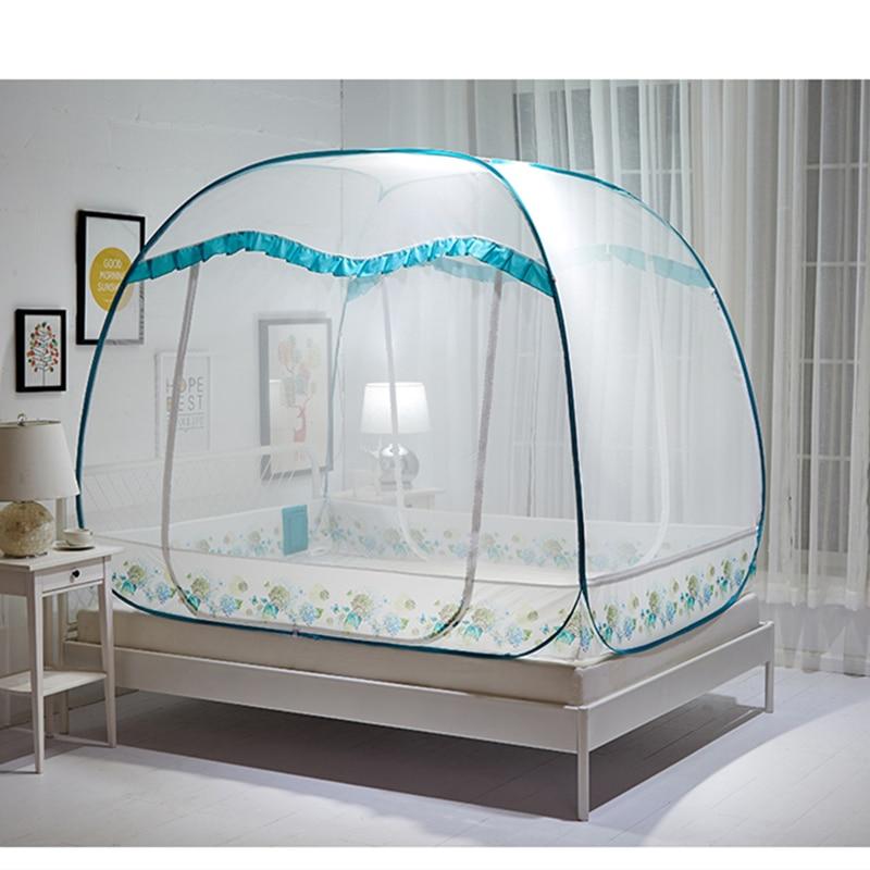 Trois portes moustiquaire maille pliante 4 tailles insecte preuve lit auvent tente pour chambre mongole yourte moustiquaire rideau