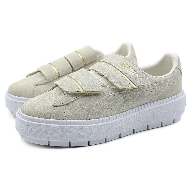 3ec9d2a3379 Original New Arrival 2018 PUMA Platform Trace Strap Women s Skateboarding  Shoes Sneakers