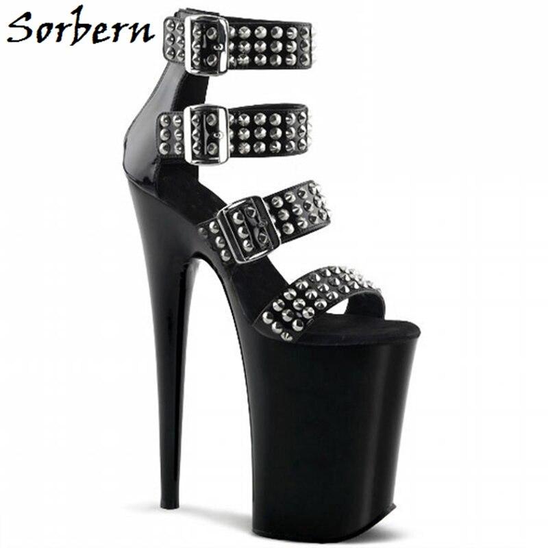 Sorbern Open Toe Studded Women Sandals Summer Shoes For Ladies Platform 10Cm Designer Brand Fashion Custom Color Size 8 Sandals