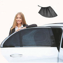2 قطعة سيارة الشمس قناع الخلفي الجانب نافذة الشمس شبكة تظليل النسيج الشمس قناع الظل غطاء درع UV حامي الأسود السيارات ظلة الستار