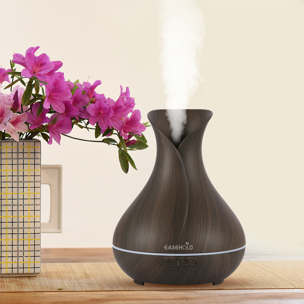 EASEHOLD Essential Oil Diffuser Air Humidifier Aroma Lampe Aromaterapi Electric Ultrasonic Aroma Diffuser Mist Maker for Office