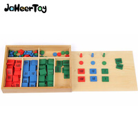 JaheeToy Montessori Educational Children's Toys for Kids Stamp Game Math Digital Cognition Color Classification Funny Gifts