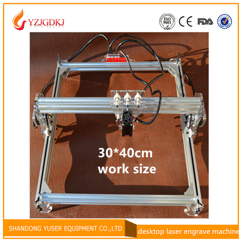 3040 laser carving machine,DIY laser cutting machine big power laser engraver machine,big work size 30*40cm,benbox software цена