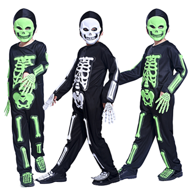 halloween costume party dress skeleton ghost clothing masquerade party boys funny skeleton clothes clothes role playing - Clothes Halloween