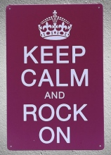 1 piece Keep Calm and Rock On Tin Plate Sign wall Room man cave Decoration Art Dropshipping Poster metal