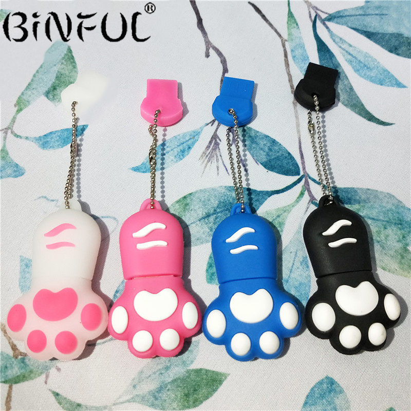 High Quality USB Flash Drive Cute Lovely Cat Claws PenDrive Women Flash Memory Stick Pen Drives U Disk 4gb 8gb 16gb 32gb 64gb