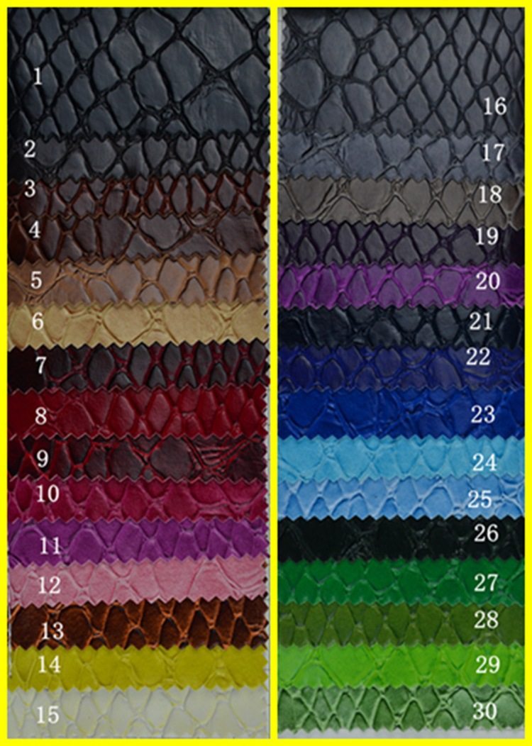 Snake Skin PU Faux Leather 33 Colors Scratch Resistant Leather Phone  Wallpaper Free/ White Leather Material Textile Fabric Meter