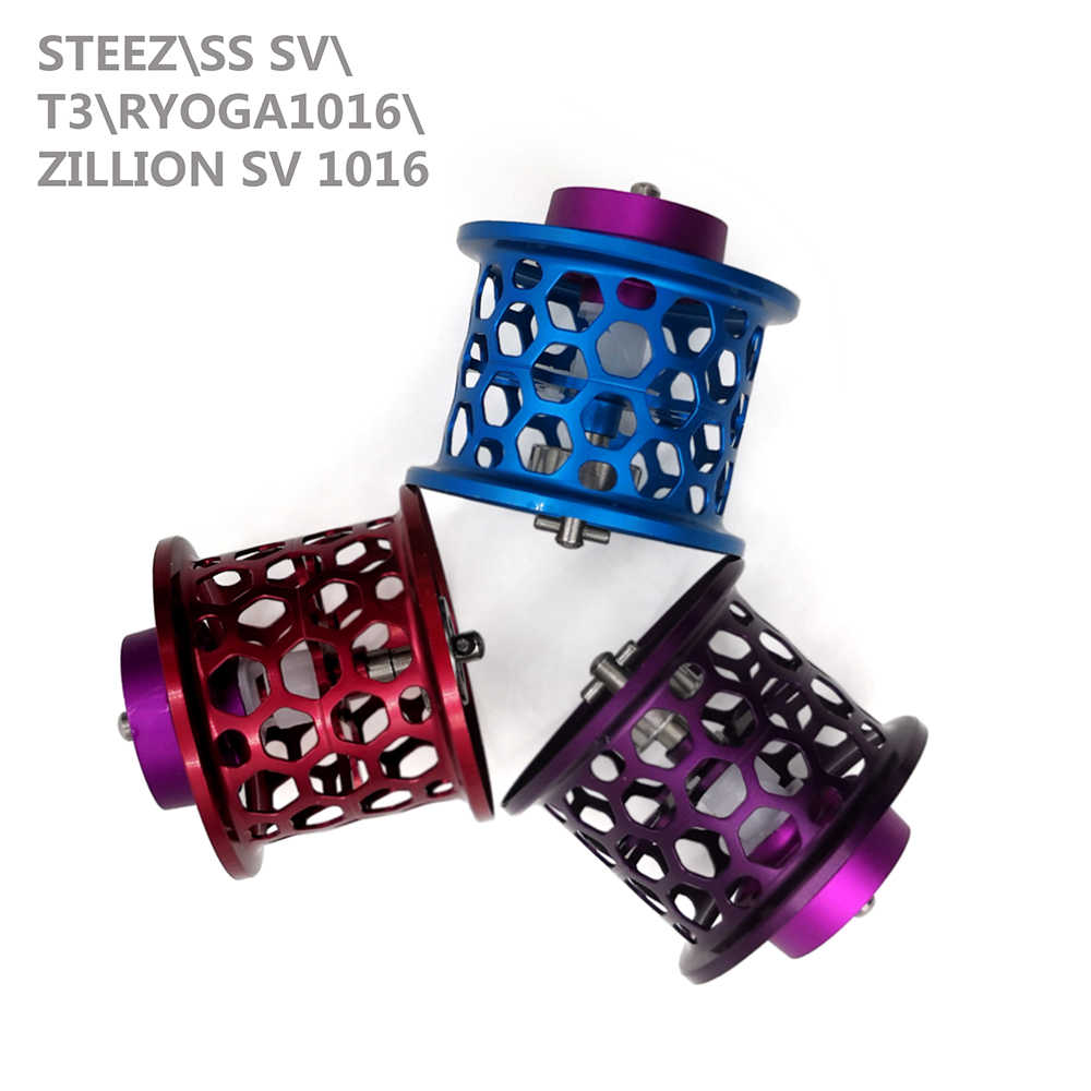 Carrete de 1 pieza DIY para Steez ss sv/T3/RYOGA1016/Zillion SV TW carrete de línea de nido de abeja carrete de pesca