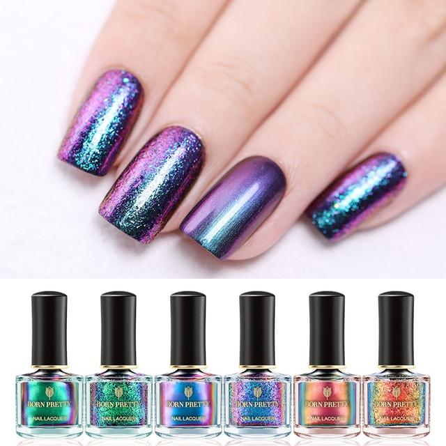 Born Pretty Magic Nail Polish Lacquer Gypsy Water Series Art Shiny Glitter Varnish Black Base